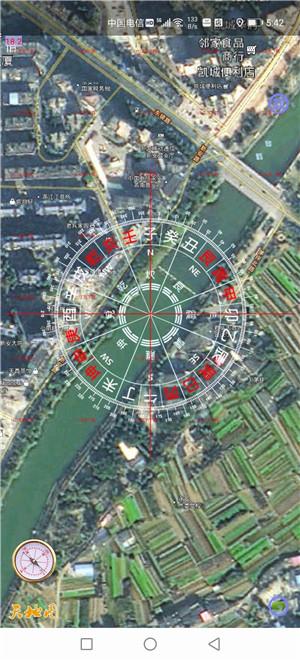 千里眼寻龙点穴高清3D实景地图软件,阴阳宅远程看风水定位透明罗盘软件