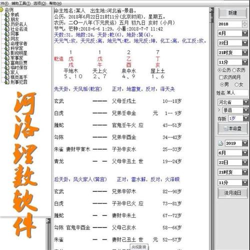 正版河洛理数软件(电脑版)