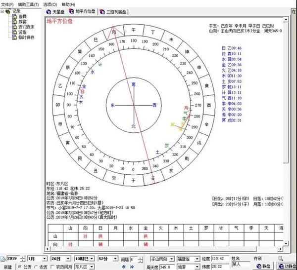 七政四余弧角天星择日盘软件,七天星择日盘软件