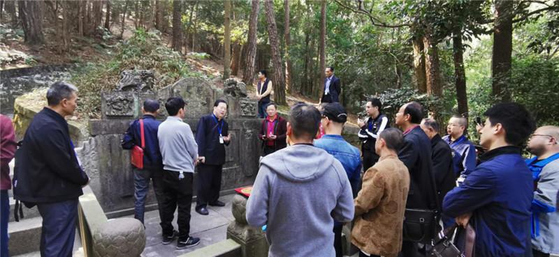 裴翁教授带领中国易学名师风水考察团浙江宁波考察